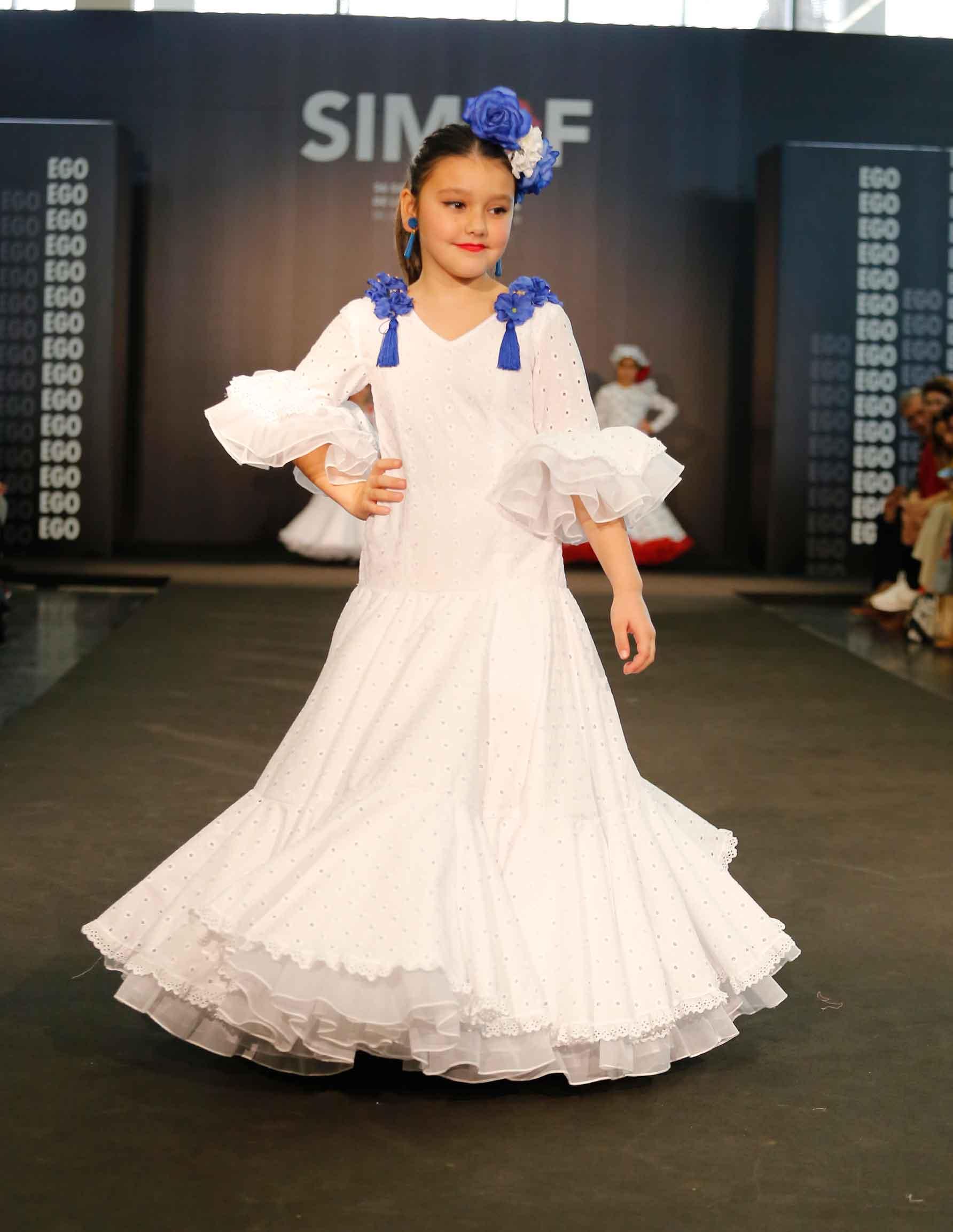 Traje de flamenca niña blanco